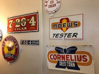 collectible signs in decatur illinois